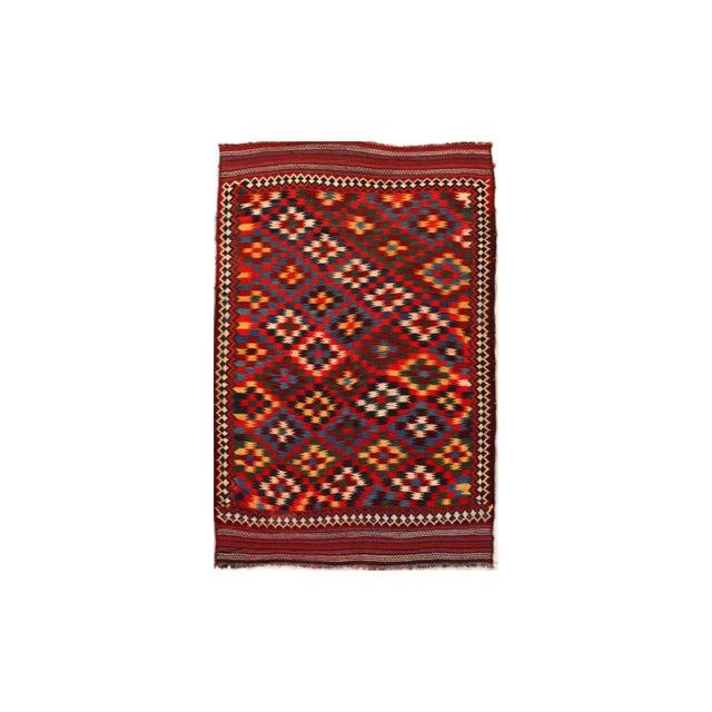 Textile Antique Persian Kilim Qashqai Rug For Sale - Image 7 of 7