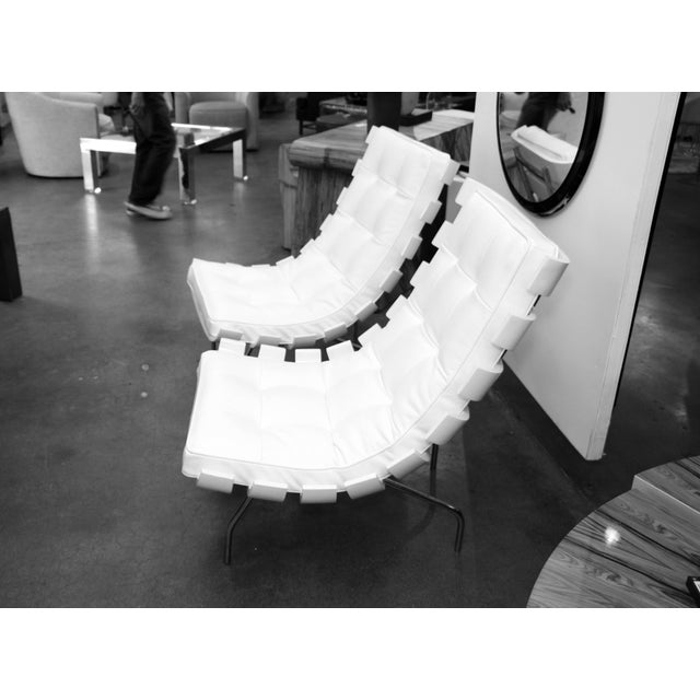 """Pair of 1990's Scala Luxury """"Rib"""" Lounge Chairs With New Leather Cushions For Sale - Image 10 of 11"""