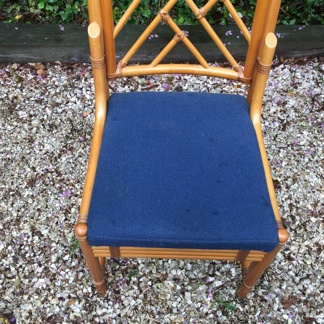 Chippendale Rattan Side Chairs - Set of 3 - Image 7 of 11