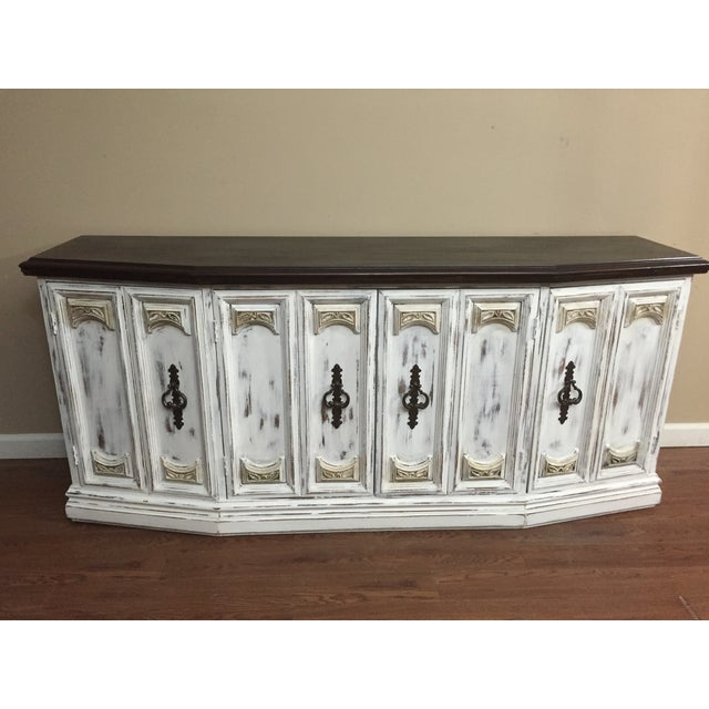 Distressed Wooden Sideboard Buffet - Image 2 of 9