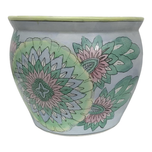 Large Oriental Asian Chinese Planter Jardiniere For Sale
