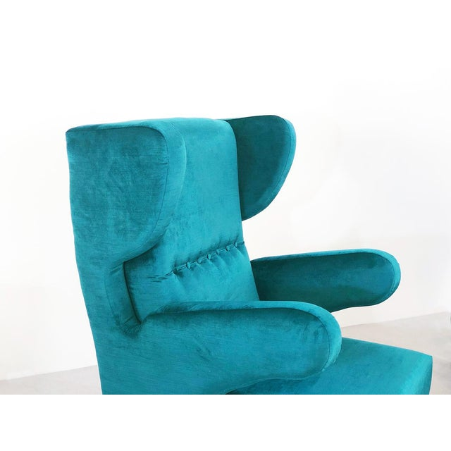 Pair of 50s Armchairs Attributed to Melchiorre Bega For Sale - Image 6 of 9