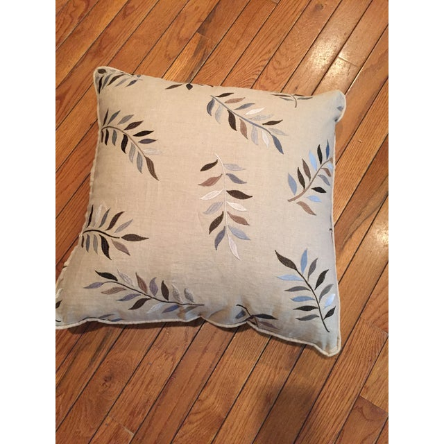 Autumn Leaves Print Pillows - A Pair For Sale In New York - Image 6 of 7