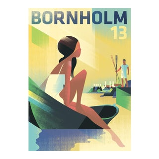 Danish Modern Travel Poster, Bornholm 2013 For Sale