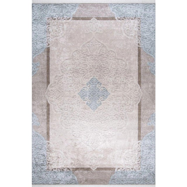 Traditional Oushak Pattern Inspired Area Rug - 5′1″ X 7′7″ For Sale - Image 11 of 11