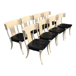 Mid Century Th Robsjohn Gibbing Klismos Chairs- Set of 8 For Sale
