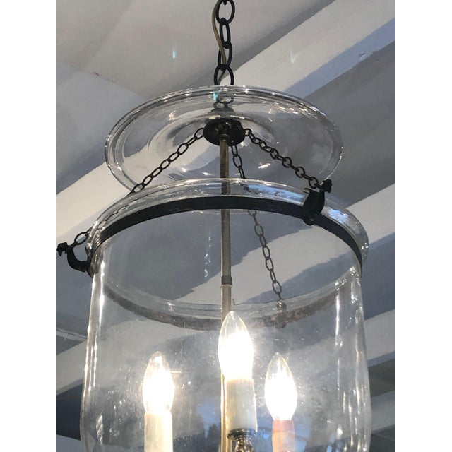 Mid 19th Century Mid 19th Century Antique Traditional Hurricane Style Foyer Lantern Chandelier For Sale - Image 5 of 8