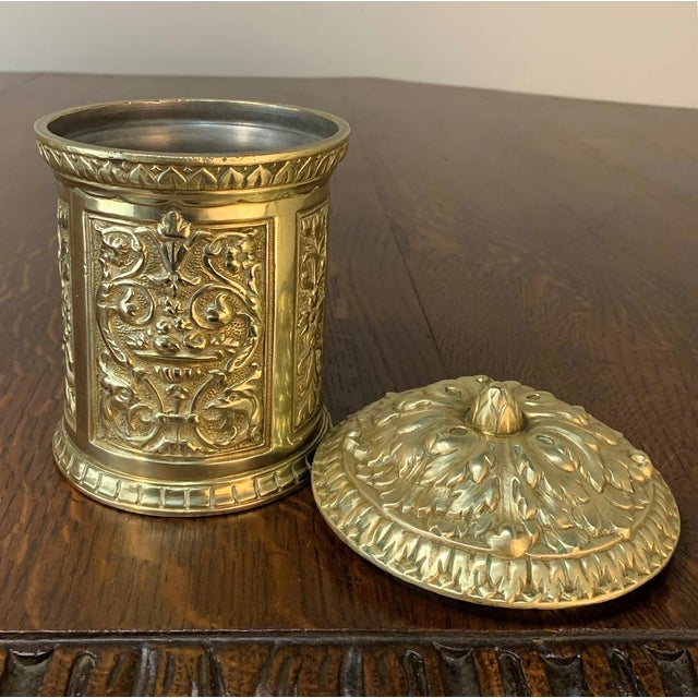 Gold 19th Century Bronze French Humidor For Sale - Image 8 of 13