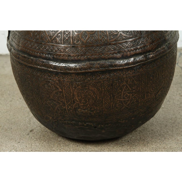 19th Century Persian Copper Pot With Handle For Sale In Los Angeles - Image 6 of 7