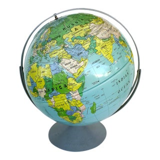 Nystrom 2-Axis Political Globe W/ Relief, Edition 1995 For Sale