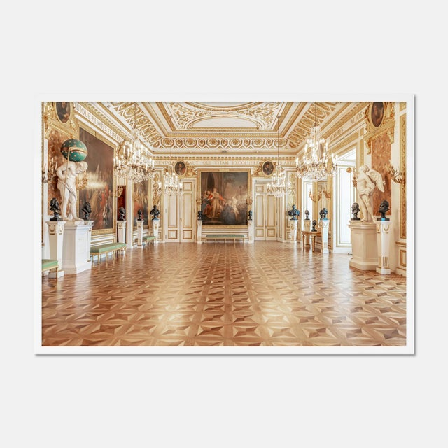 Royal Castle Warsaw Knights Hall by Richard Silver in White Framed Paper, Medium Art Print For Sale - Image 4 of 4