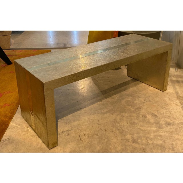 Handmade Hammered White Bronze Alison Spear Bench By Stephanie Odegard This handmade hammered bench is part of the...