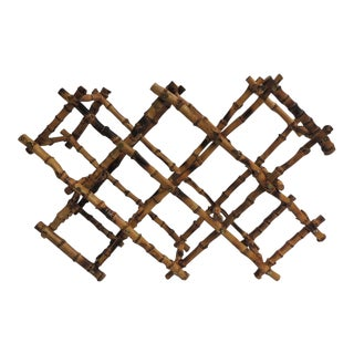 Vintage Bamboo Articulated Wine Rack