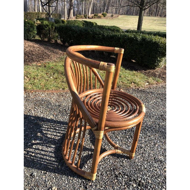 Wood Boho Chic Rattan and Bentwood Dining Set for Two - 3 Pieces For Sale - Image 7 of 13