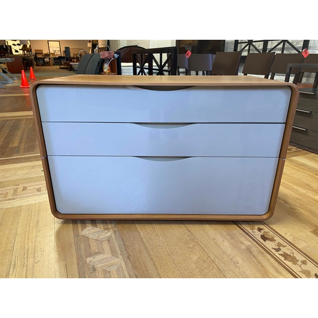 Design Plus Gallery presents a Ligne Roset Cemia Three Drawer Dresser. Design by Peter Maly. Steam bent wood encapsulates...