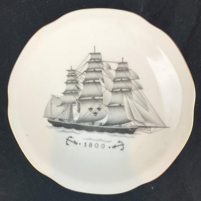 Rostrand Ship Porcelain Plates - Set of 11 For Sale - Image 9 of 11