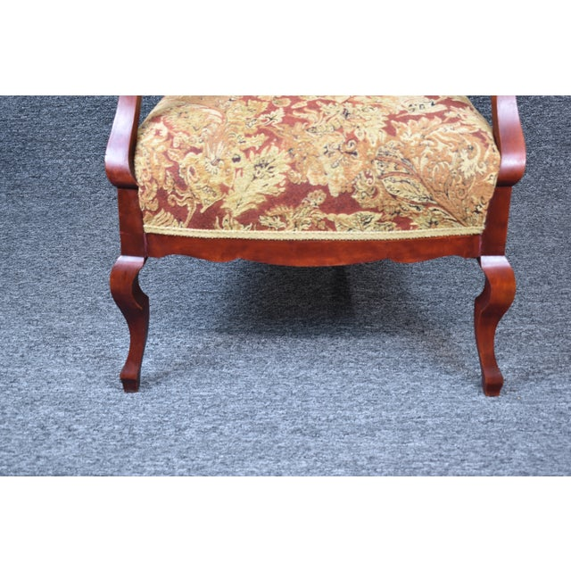 Antique Old World Carved Shield Back Armchair For Sale - Image 11 of 12