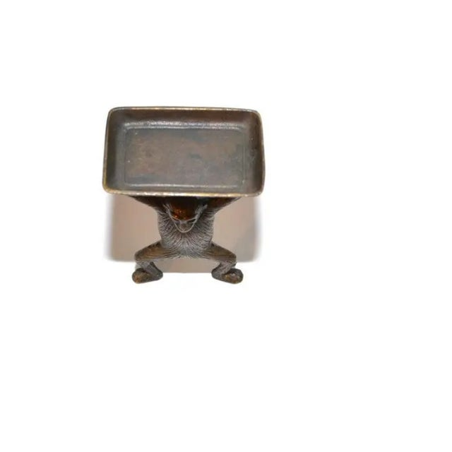 Late 20th Century Vintage Brass Monkey Business Card Holder For Sale - Image 5 of 6