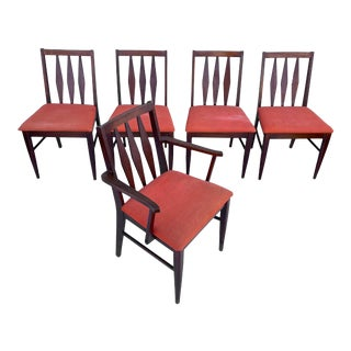 Mid-Century Dining Chairs- Set of Five For Sale
