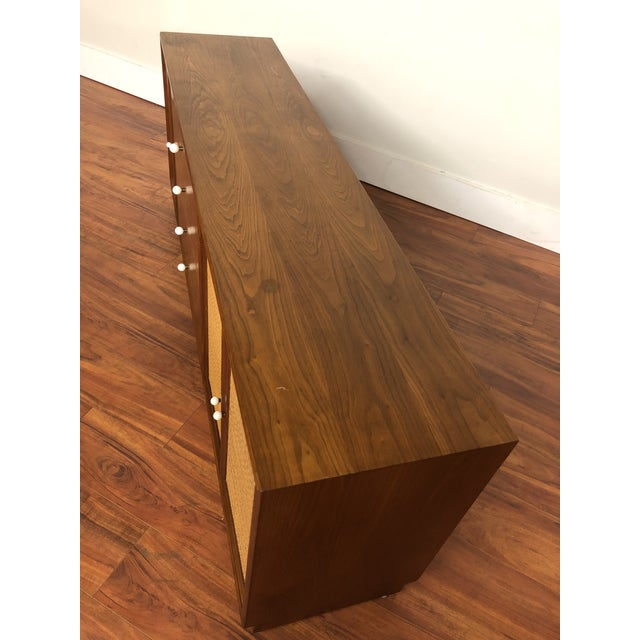 Drexel Declaration Walnut Sideboard With Cane Accents For Sale - Image 11 of 12