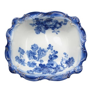 Late 19th Century Antique Royal Doulton Gloire De Dijon Bowl For Sale