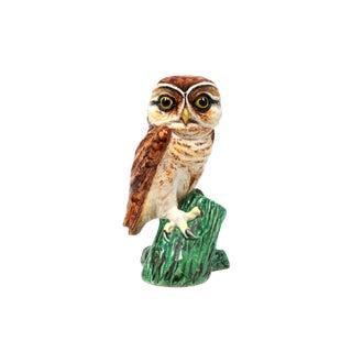 Vintage Italian Ceramic Majolica Owl