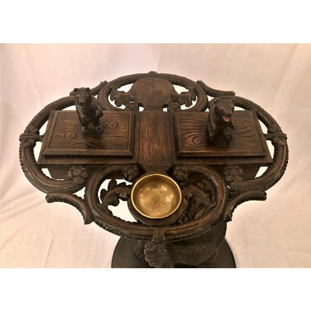 Black Forest Antique Black Forest Carved Oak Smoker's Stand, Circa 1880. For Sale - Image 3 of 7