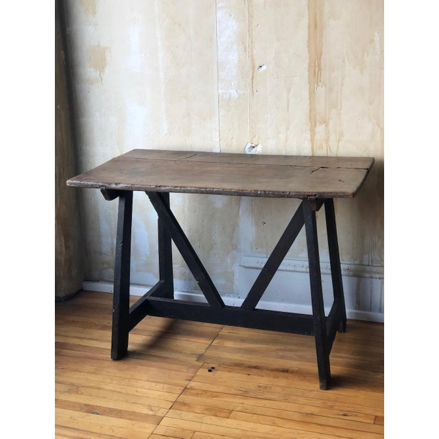 17th Century Italian Antique Trestle Table For Sale - Image 11 of 12