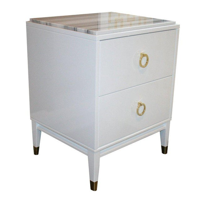 2010s Customizable Spencer Marble-Top Night Tables For Sale - Image 5 of 7