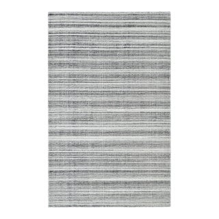 Brett, Contemporary Modern Hand-Knotted Area Rug, Gray, 8 X 10 For Sale