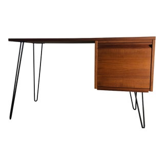 Vintage Mid Century Modern Danish Style Writing Desk For Sale
