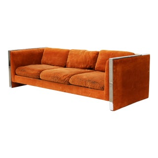 Milo Baughman Style Even Arm Sofa by Selig of Monroe