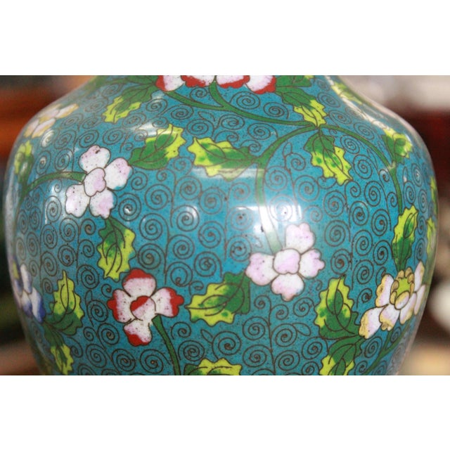 Mid 19th Century Mid 19th Century Cloisonne Lamp For Sale - Image 5 of 9