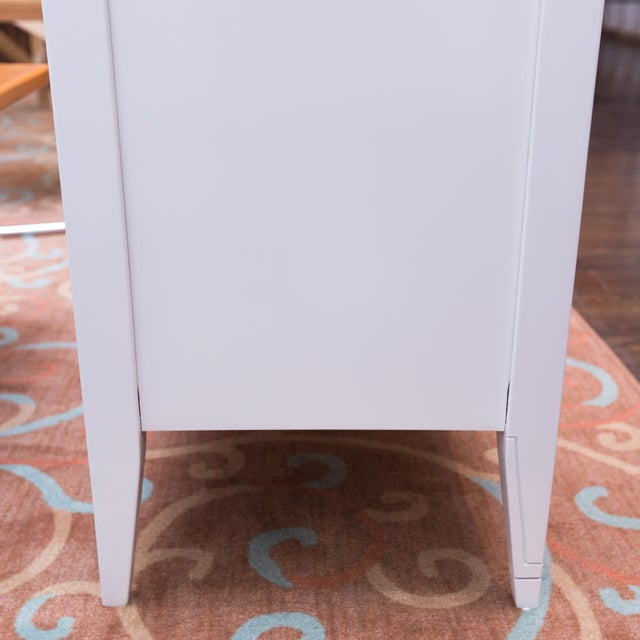 Vintage 3-Door White Lacquer Console - Image 5 of 6