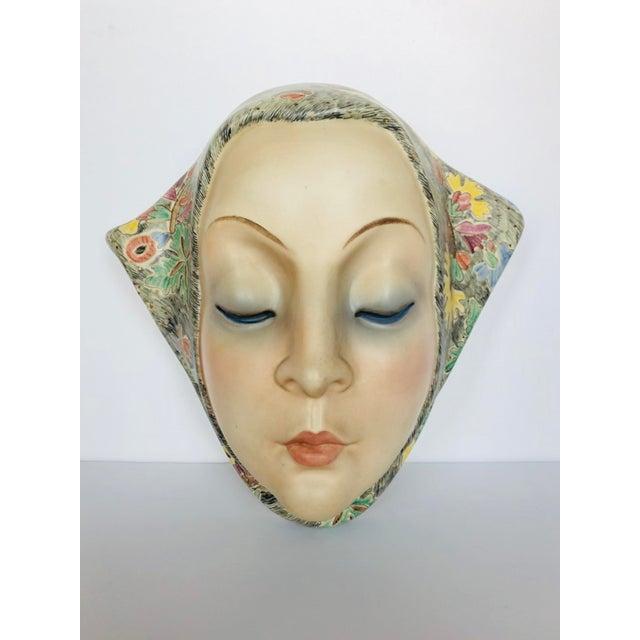 Black Helen Koenig Scavini Lenci Torino Polychrome Pottery Mask For Sale - Image 8 of 8