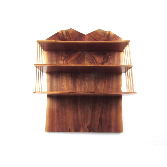 George Nakashima Modern Live Edge Wall Shelf After George Nakashima For Sale - Image 4 of 13