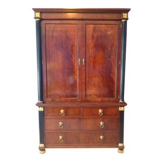 Baker English Regency Mahogany Bedroom Armoire For Sale