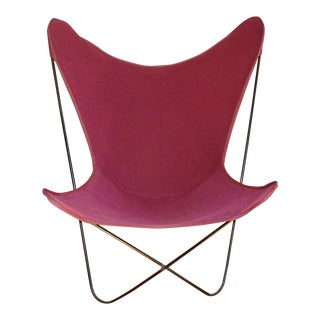 Mid-Century Modern Knoll Style Original Welded-Iron Butterfly Chair For Sale