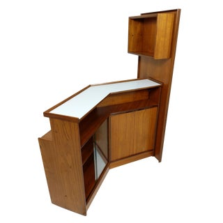 Turnidge Teak Cocktail Drinks Bar Mid Century Vintage Danish