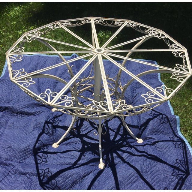 Antique 19th Century Wrought Iron 12-Sided French Table For Sale - Image 5 of 10