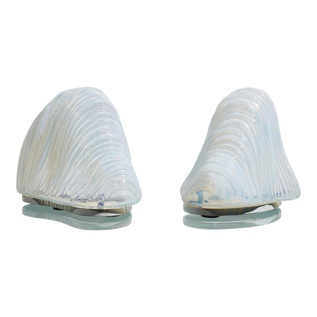 Pair of Iceberg Lamps by Carlo Nason For Sale
