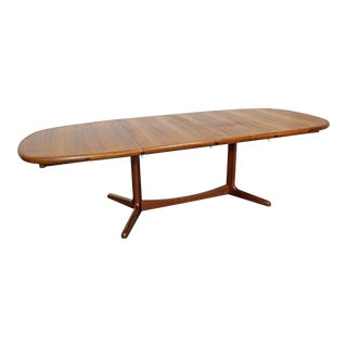 Mid-Century Danish Modern Teak Extendable Surfboard Dining Table For Sale