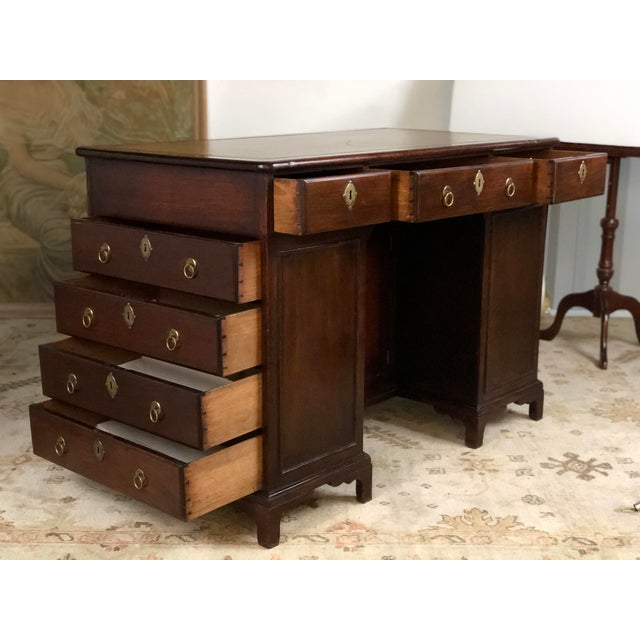 19th Century Regency Kneehole Desk of Mahogany For Sale - Image 4 of 12
