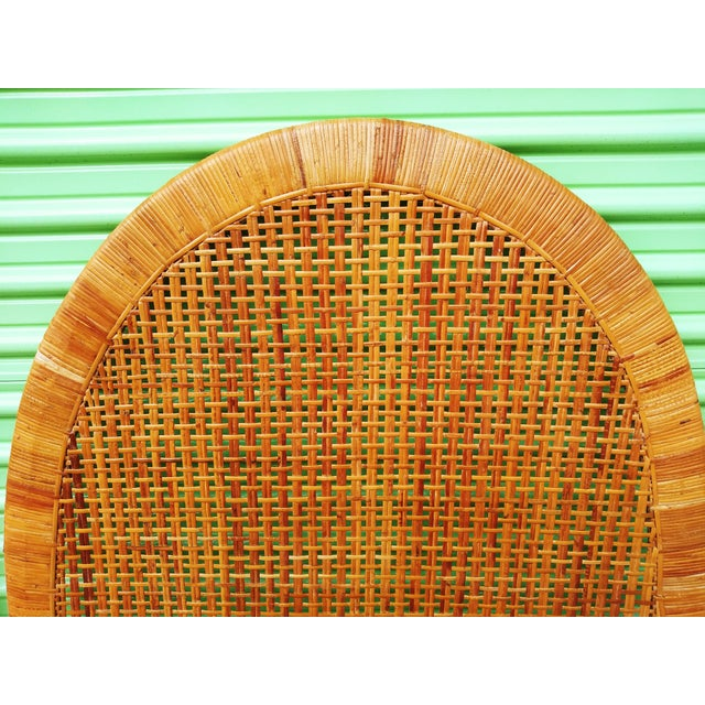 Boho Chic Boho Chic Handwoven Bamboo & Rattan Cane Twin Headboards - a Pair For Sale - Image 3 of 13