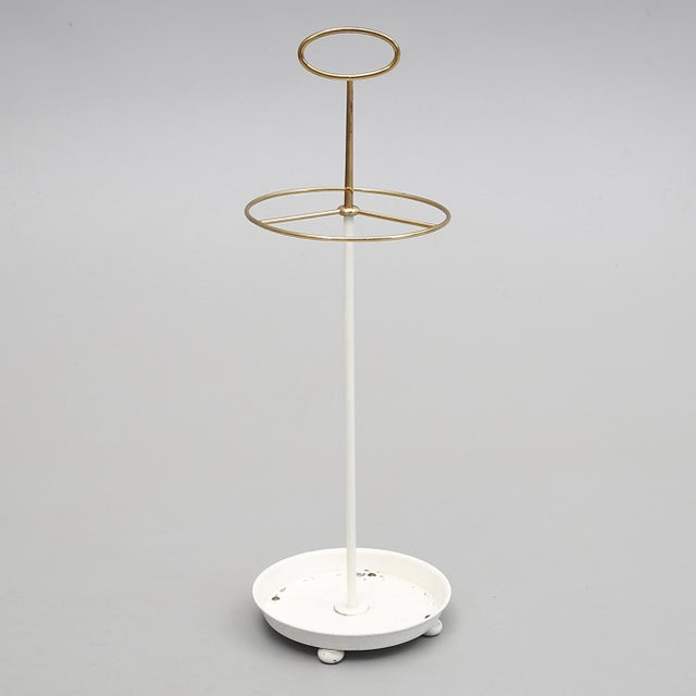 1950s Midcentury Brass Umbrella Stand by Gunnar Ander for Ystad For Sale - Image 5 of 5