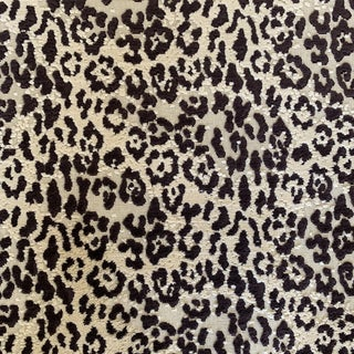 Designer Velvet Leopard Print Fabric For Sale