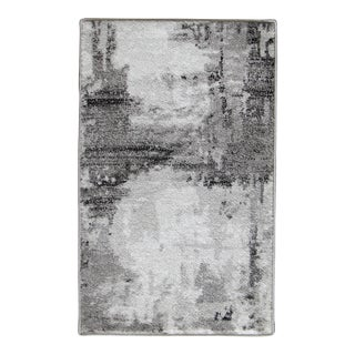 "Abstract Art Gray Rug - 5'3"" x 7'7"""