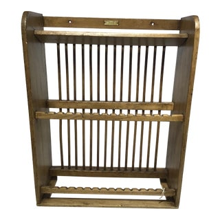 English Pine Plate Rack For Sale