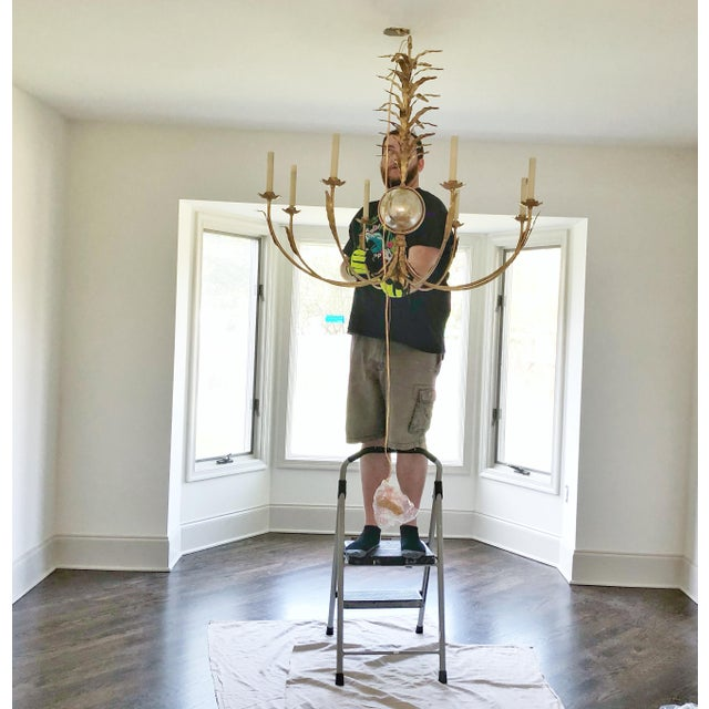 French e.f. Chapman for Visual Comfort Gramercy Chandelier For Sale - Image 3 of 5
