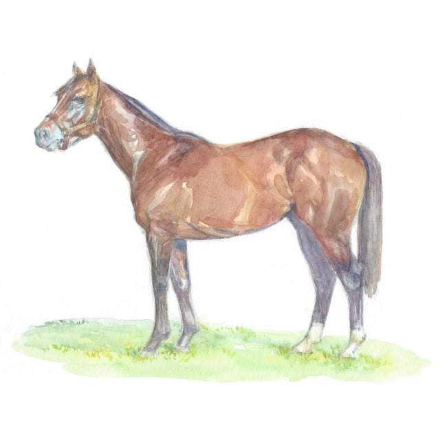 Lexie Armstrong Racehorse Print - Image 3 of 3